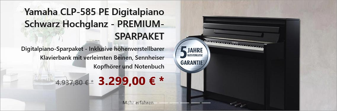 yamaha clavinova clp 645 wh wei matt sparpaket bauer. Black Bedroom Furniture Sets. Home Design Ideas